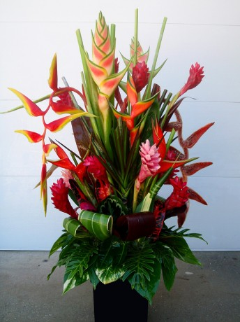 Tropical Flower Arrangement Brevard County Melbourne Florida Vero Beach Heliconia