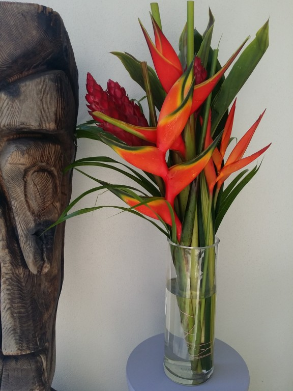 Fresh Cut Tropical Flowers Heliconia Ginger